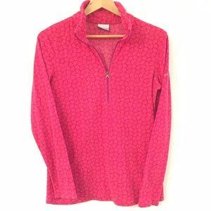 Columbia Printed Half Zip Fleece Pullover sz M